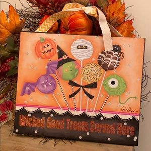 Halloween Wicked Good Treats Cake Pop Dessert Sign